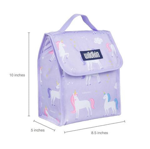 Wildkin Olive Kids Unicorns Lunch Bag [BPA-Free]