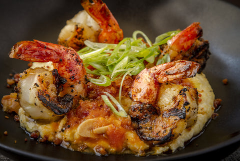Blackened Shrimp with Grits