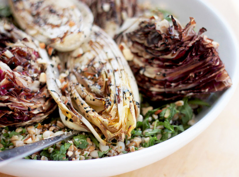 Farro with Grilled Endive