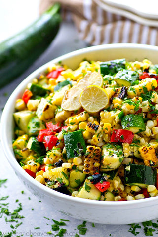 Grilled Zucchini Sweet Corn Salad