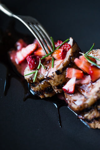 Balsamic Pork Tenderloin with Strawberries and Rosemary