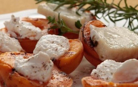 Grilled Apricots and Goat Cheese a Tuscan delight