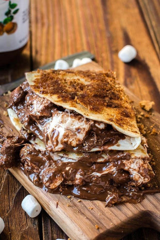 Grilled S'mores Dessert Quesadillas