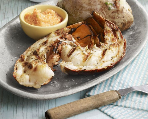 grilled lobster with lime bay butter