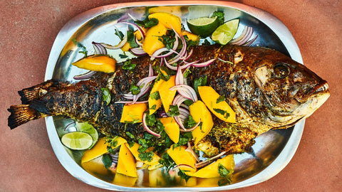 Grilled Snapper with Mango & Onion Salad