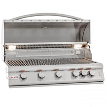 "Load image into Gallery viewer, Blaze LTE 40"" 5-Burner Built-In Propane Gas Grill With Rear Infrared Burner & Grill Lights"