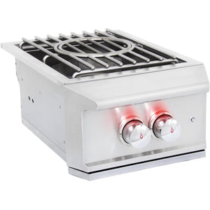 Blaze Professional Built-In High Performance Power Burner W/ Wok Ring & Stainless Steel Lid