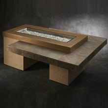 Load image into Gallery viewer, Outdoor Greatroom Uptown Linear Gas Fire Pit Table