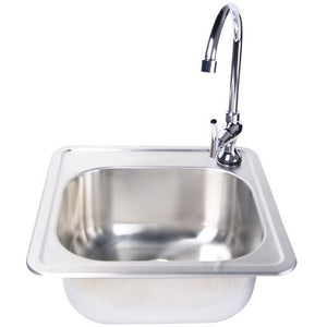 Fire Magic 15 X 15 Outdoor Rated Stainless Steel Sink With Cold Water Faucet