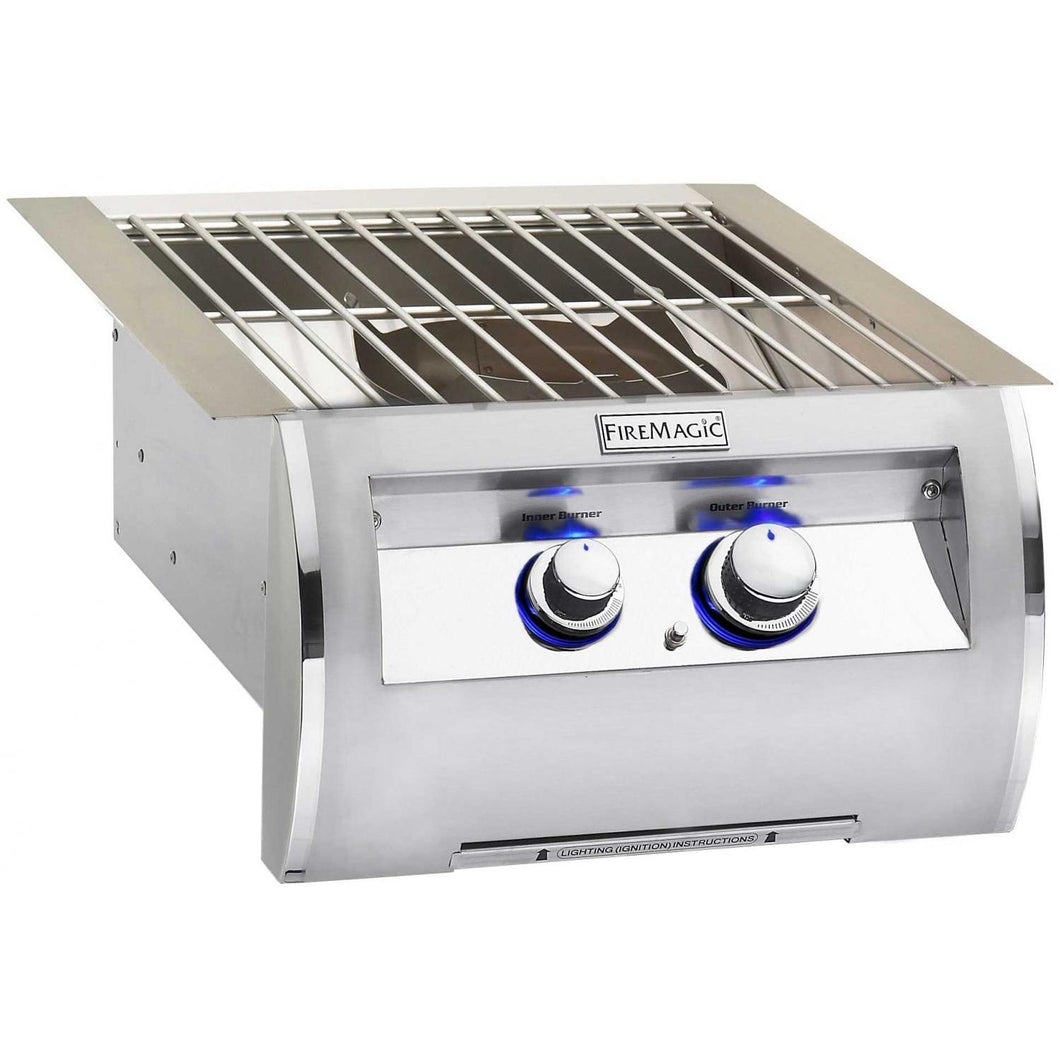 Fire Magic Echelon Diamond Built-In Power Burner With Stainless Steel Grid