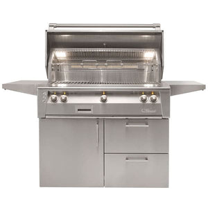 Alfresco ALXE 42-Inch Propane Gas Grill On Deluxe Cart With Sear Zone And Rotisserie - ALXE-42SZCD-LP
