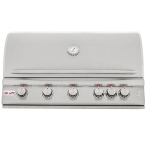 "Blaze LTE 40"" 5-Burner Built-In Propane Gas Grill With Rear Infrared Burner & Grill Lights"