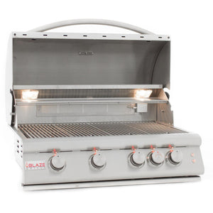 "Blaze LTE 32"" 4-Burner Built-In Propane Gas Grill With Rear Infrared Burner & Grill Lights"