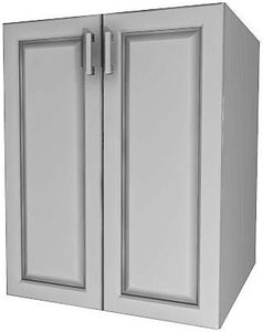"FULL HEIGHT CABINET 2-DOORS (21"" to 33"" wide)"