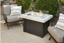 Load image into Gallery viewer, Outdoor Great Rooms White Providence Rectangular Gas Fire Pit Table