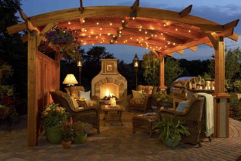 Outdoor Great Room 16' Sonoma Wood Pergola
