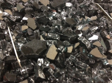 Crushed Tempered Fire Glass