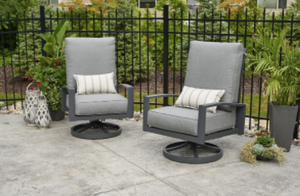 Outdoor Greatroom Lyndale Highback Swivel Rocking Chairs