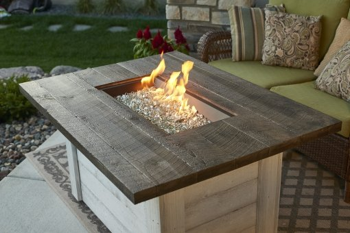 Outdoor Greatroom Alcott Rectangular Gas Fire Table