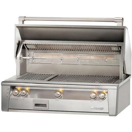 Alfresco ALXE 42-Inch Built-In Natural Gas Grill With Rotisserie
