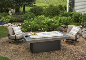 Outdoor Greatroom Boardwalk Linear Gas Fire Table