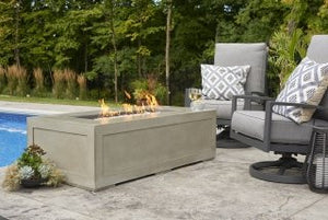 Outdoor Greatroom Cove Linear Gas Fire Pit