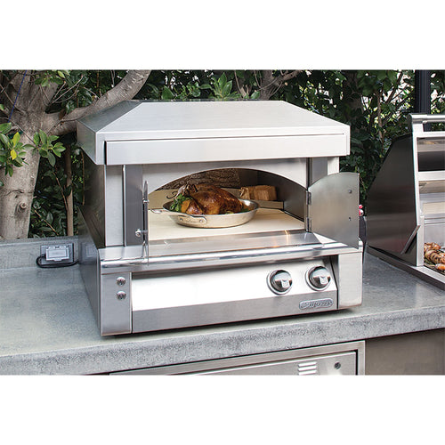 Alfresco 30-Inch Counter-top Natural Gas Outdoor Pizza Oven