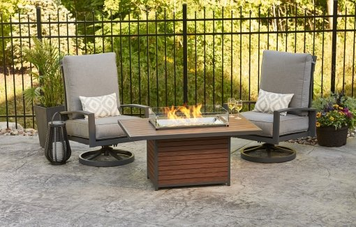 Outdoor Greatroom Kenwood Rectangular Chat Height Gas Fire Table