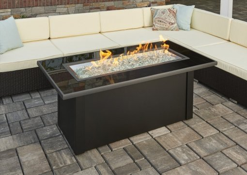 Outdoor Greatroom Monte Carlo Linear Gas Fire Table
