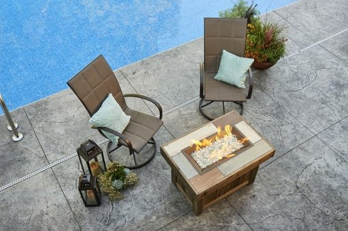 Outdoor Greatroom Vintage rectangular Gas Fire Table