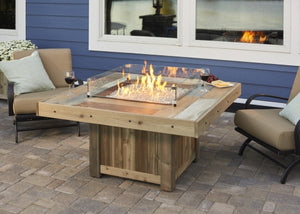 Outdoor Greatroom Vintage Square Gas Fire Table