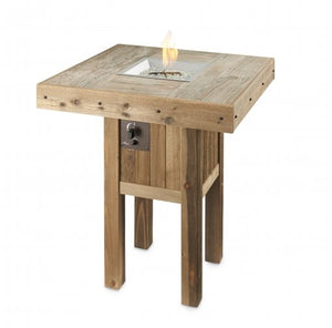 Outdoor Greatroom Westport Square Pub Height Gas Fire Table