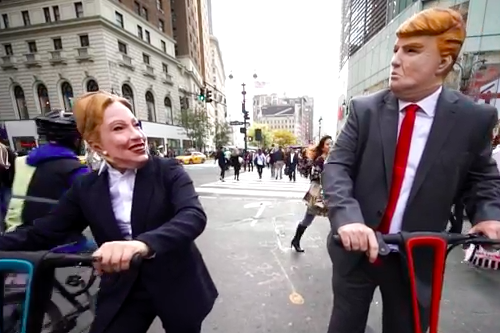 NEW VIDEO - Clinton and Trump Get Heated in NYC!