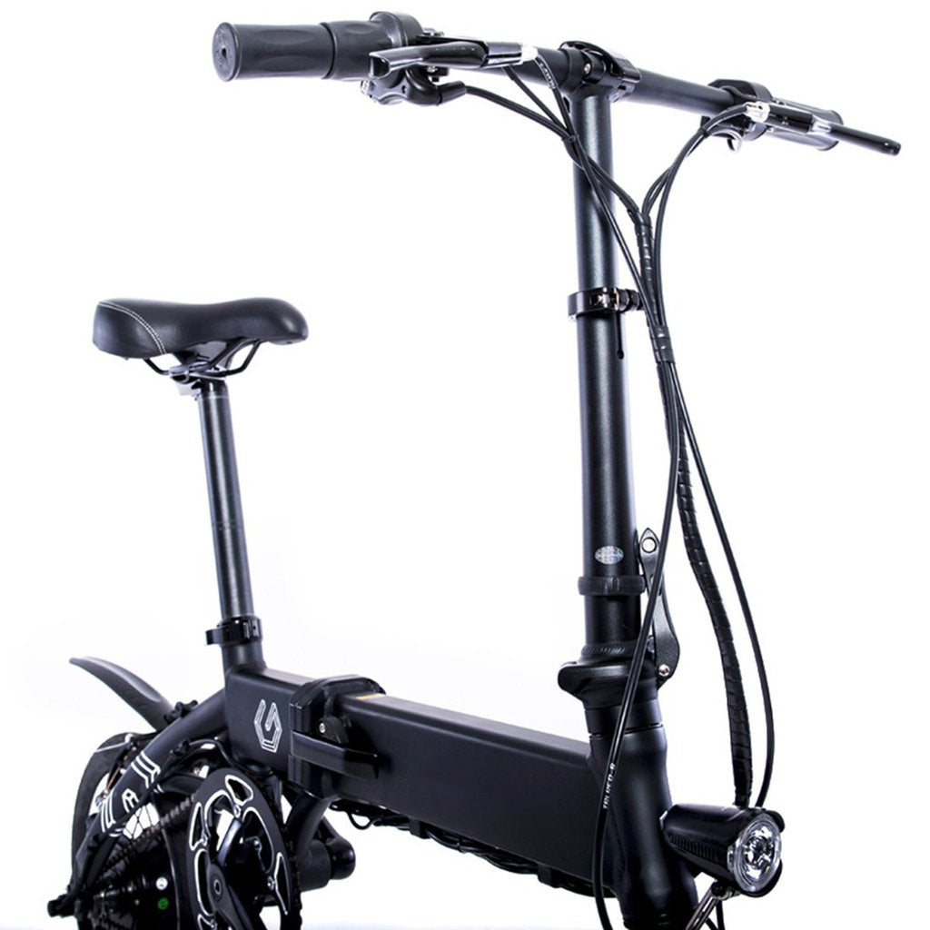 Electric Bike In Black With Foldable Design Genesis