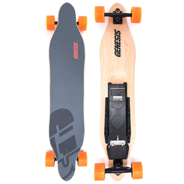 Orange Electric Skateboard Built With Premium Materials