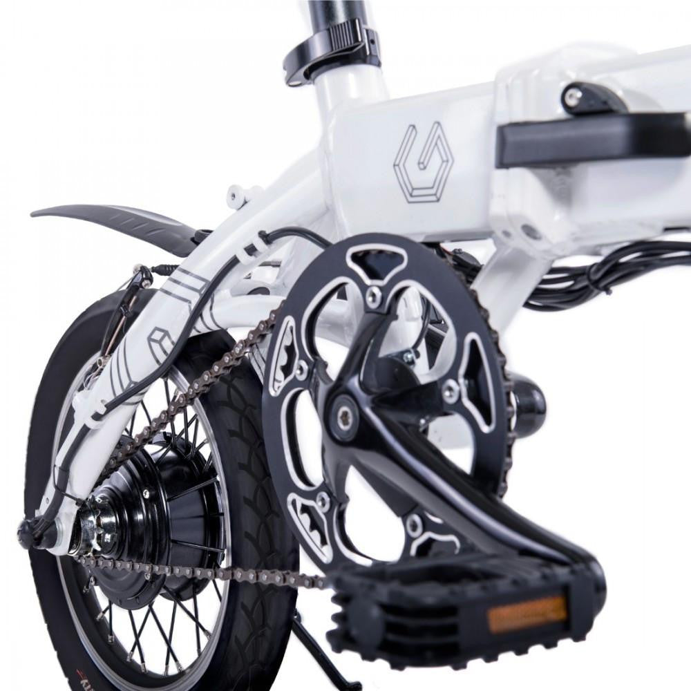 White Foldable Electric Bicycle Genesis