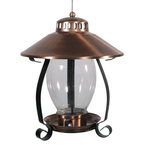 Copper Finish Lantern Feeder
