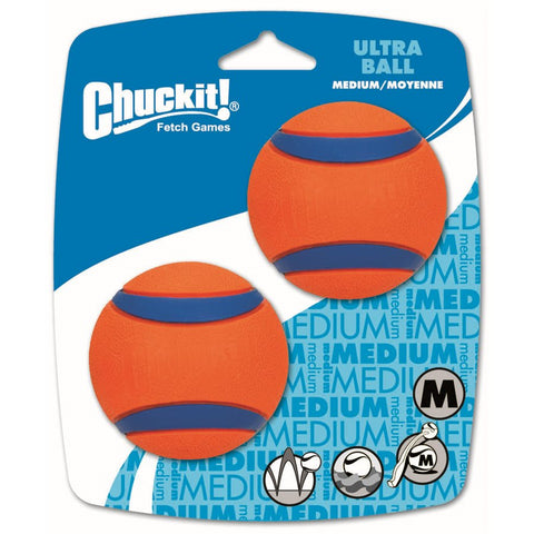 CHUCK IT! Launcher Compatible Ultra Ball Medium 2-Pack