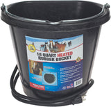 Heated Flat Back Rubber Bucket - 18 Quart
