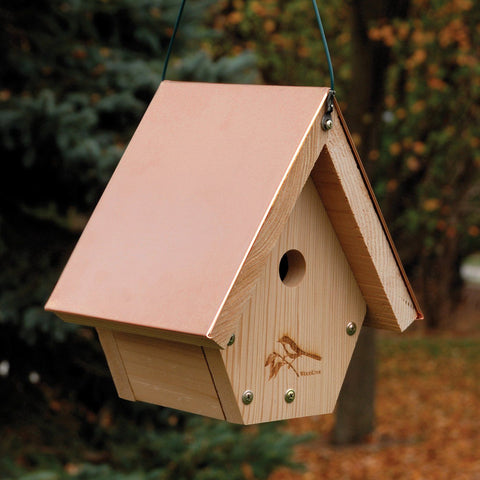 Copper Top Hanging Wren House