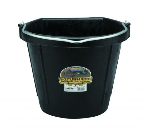 Rubber Flat Back Bucket - 20 Quart
