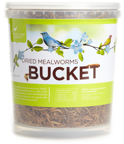 Dried Mealworms - 24Oz