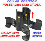 SB6 - Pole Mount Disk Squirrel Baffle - Black