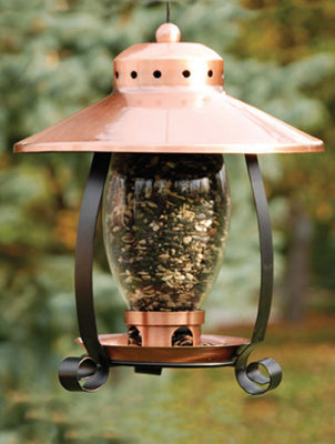Mini Copper-Finish Lantern Feeder