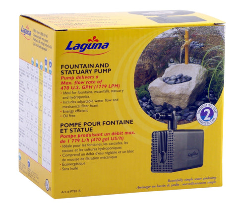 Laguna Submersible Fountain and Statuary Pump Large 470GPH
