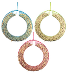 Jumbo Wreath Peanut Feeder – Assorted Colours