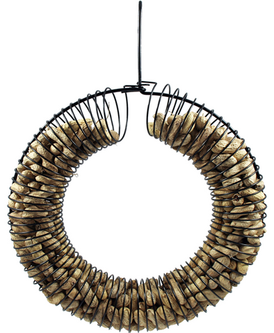 Wreath Peanut Feeder – Black