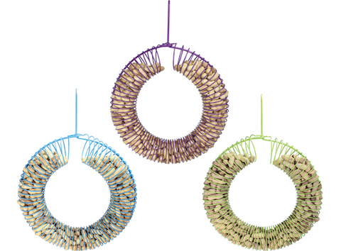 Wreath Peanut Feeder-Assorted Colours