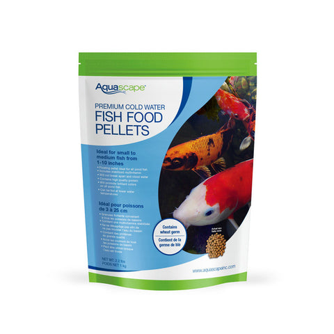 Premium Cold Water Fish Food Pellets 2.2 lbs / 1kg