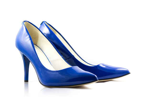 Image of Sapphire Patent Court Shoes used to show the heels' details (size 5 UK).